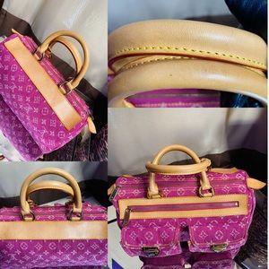 🔥🔥🛍🛍 Louis Vuitton pink denim neo speedy tote